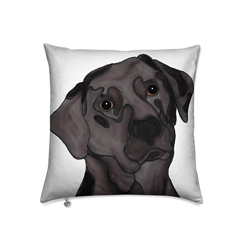 Stole My Heart Chocolate Lab Velvet Pillow