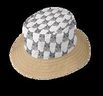 REVERSIBLE GRAY CAT BUCKET HAT