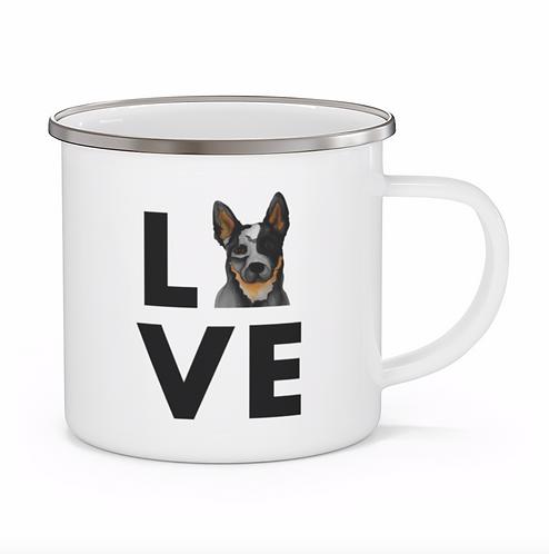 Stole My Heart Heeler Personalized Enamel Mug