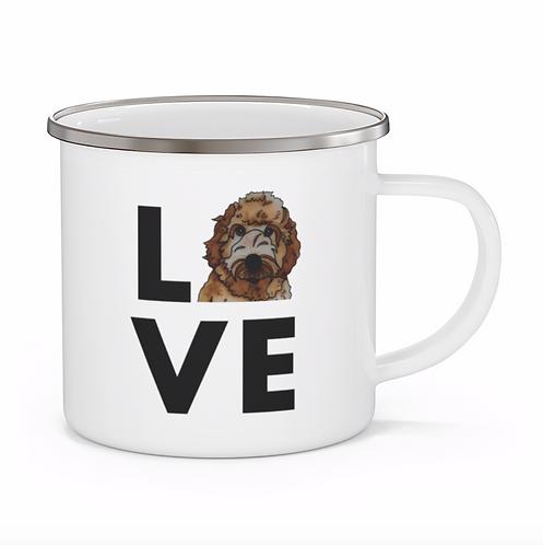 Stole My Heart Labradoodle Personalized Enamel Mug