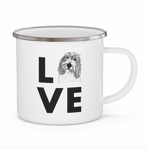 Stole My Heart PBGV Personalized Enamel Mug