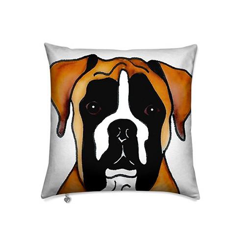 Stole My Heart Boston Boxer Velvet Pillow