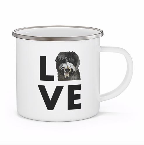 Stole My Heart Australian Labradoodle Personalized Enamel Mug