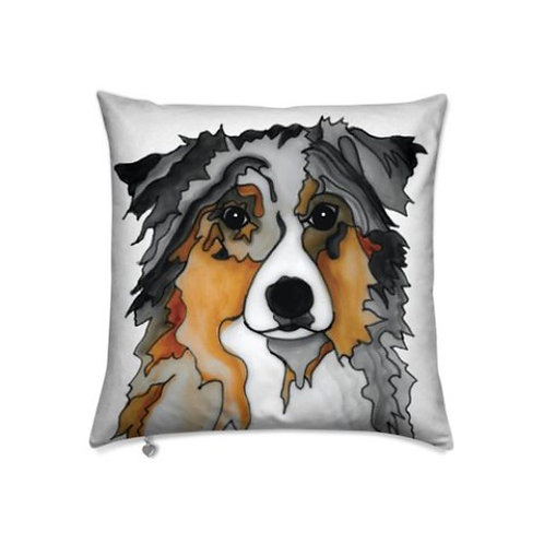 Stole My Heart Australian Shepherd Velvet Pillow