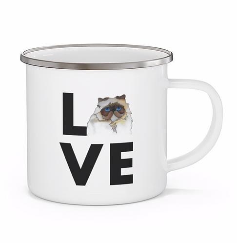 Stole My Heart Persian Cat Personalized Enamel Mug