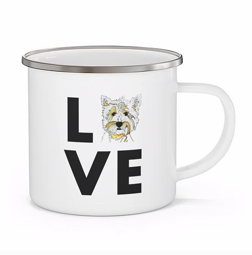 Stole My Heart Highland Terrier Personalized Enamel Mug
