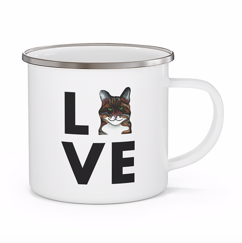 Stole My Heart Tabby Cat Personalized Enamel Mug