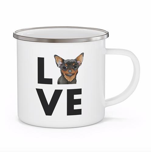 Stole My Heart Chihuahua Personalized Enamel Mug