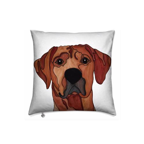 Stole My Heart Rhodesian Ridgeback Velvet Pillow