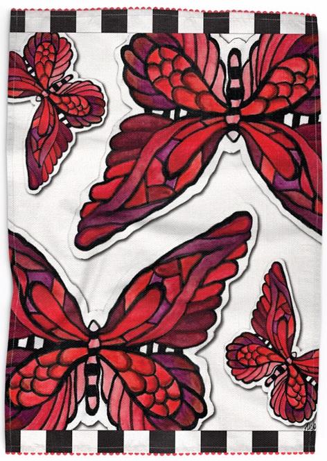 FlutterBy Butterfly Kitchen Towel - II