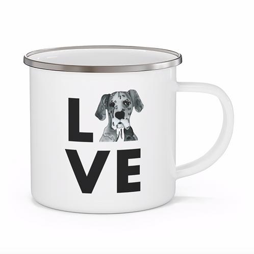 Stole My Heart Great Dane Personalized Enamel Mug