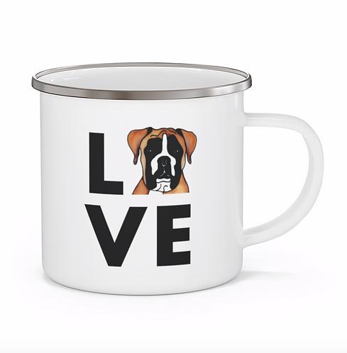 Stole My Heart Boxer Personalized Enamel Mug
