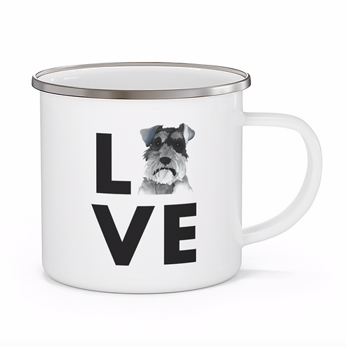 Stole My Heart Schnauzer Personalized Enamel Mug