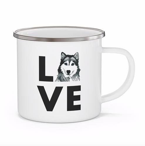 Stole My Heart Husky Personalized Enamel Mug
