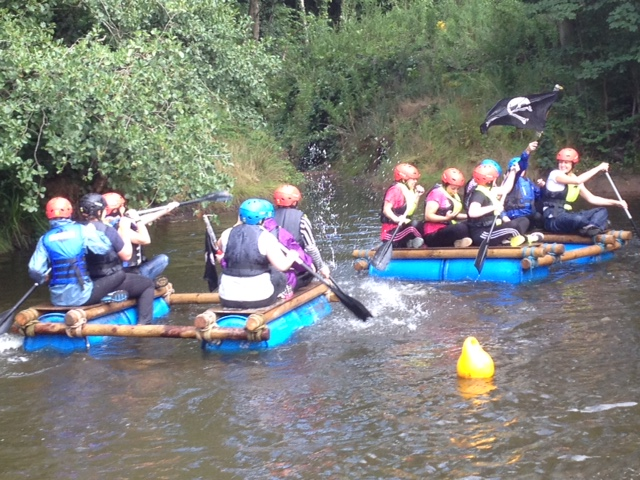 Rafting on the mere