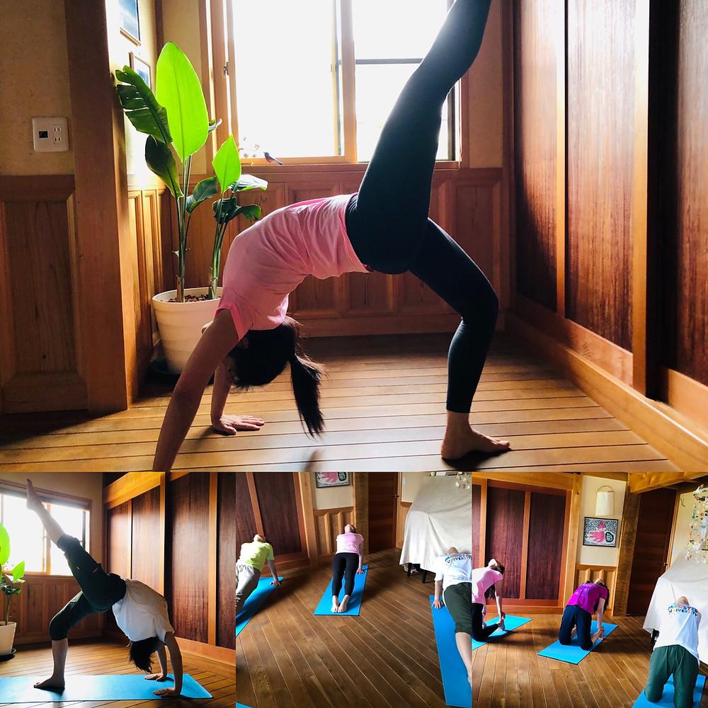 ヨガ yoga ブリッジ 車輪のポーズ ラクダのポーズ 橋のポーズ