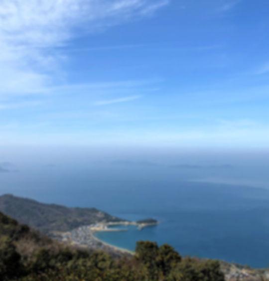 香川県三豊市 紫雲出山から箱崎を見る