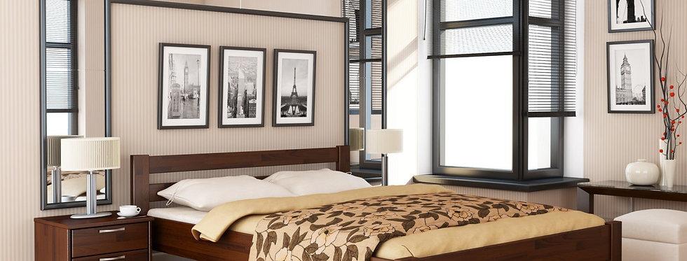 Деревяная кровать Рената Щит