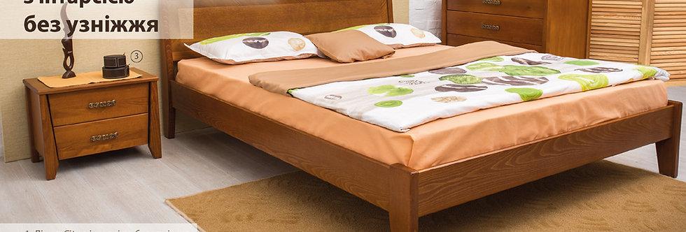 Кровать CITY с интарсией без изножья - ОЛИМП