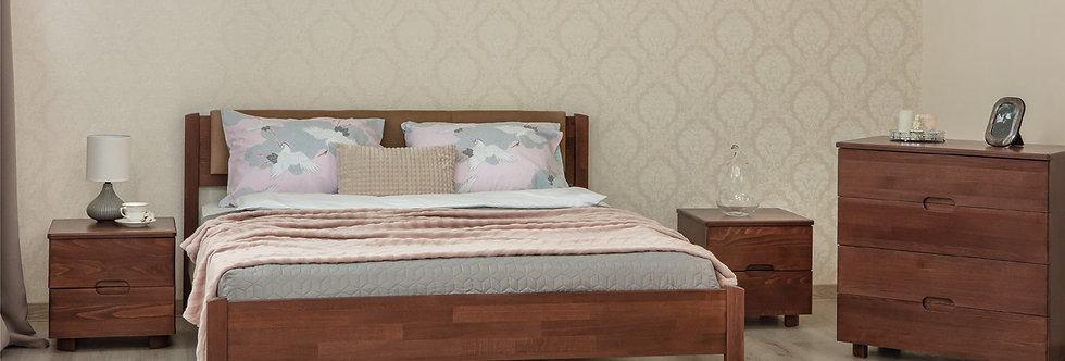 Кровать LIKA LUX с мягкой спинкой  - ОЛИМП