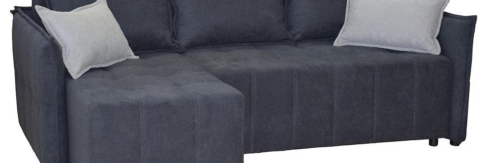 Угловой диван Милтон в комбинированной ткани длинный бок