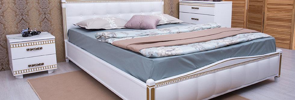 Кровать PROVENCE с мягкой спинкой (квадраты) - ОЛИМП