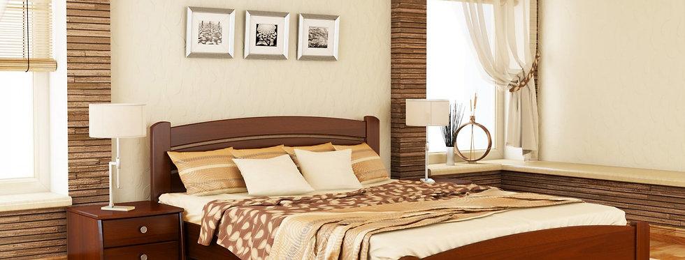 Деревяная кровать Венеция Люкс массив