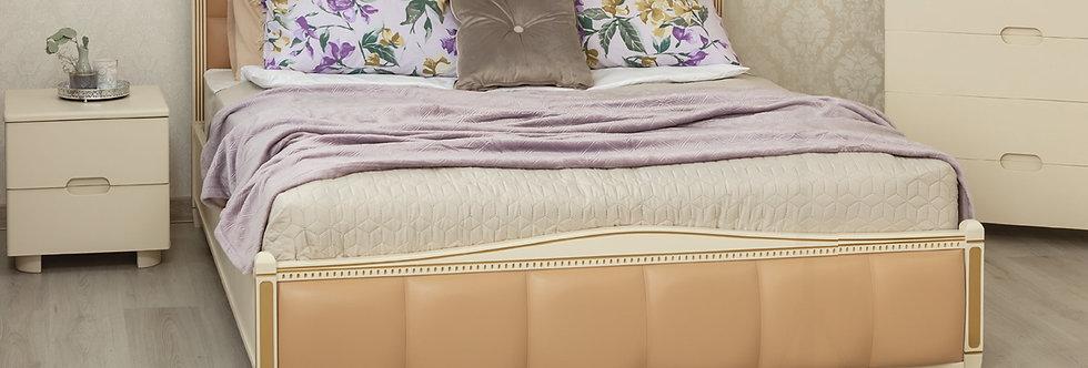 Кровать PROVENCE с мягкой спинкой (квадраты) и подъёмным механизмом - ОЛИМП