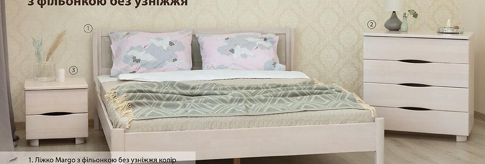 Кровать MARGO с филенкой без изножья - ОЛИМП