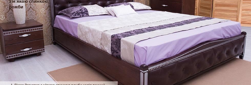 Кровать PROVENCE с мягкой спинкой (ромбы) - ОЛИМП