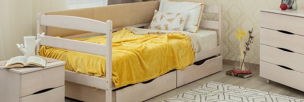 Кровать MARIO с мягкой спинкой и ящиками - ОЛИМП