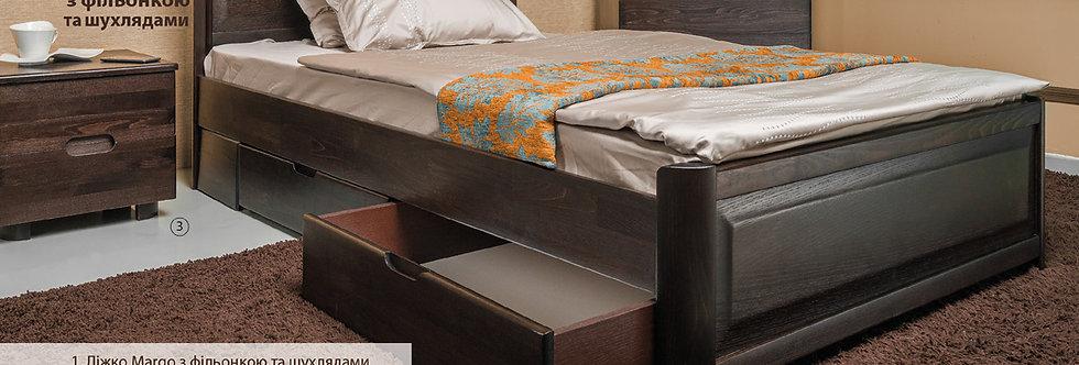 Кровать MARGO с филенкой и ящиками - ОЛИМП