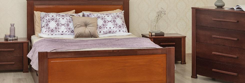 Кровать OXFORD с филенкой и ящиками - ОЛИМП