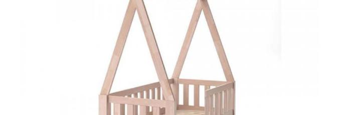 Кровать детская Типпи c ограждением Клен