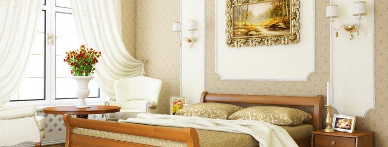Деревяная кровать Диана Щит