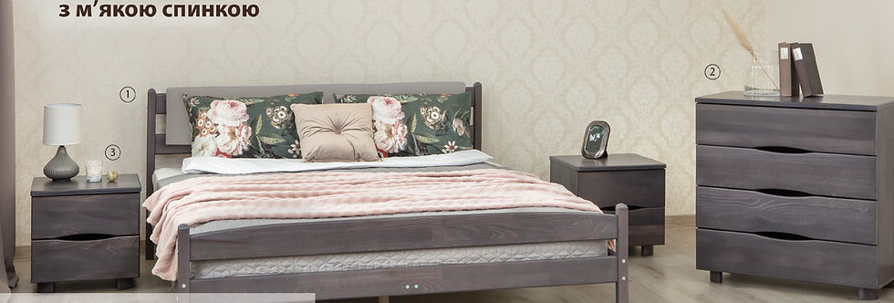 Кровать LIKA с мягкой спинкой - ОЛИМП