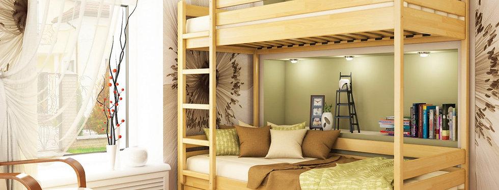 Деревяная кровать Дуэт Щит