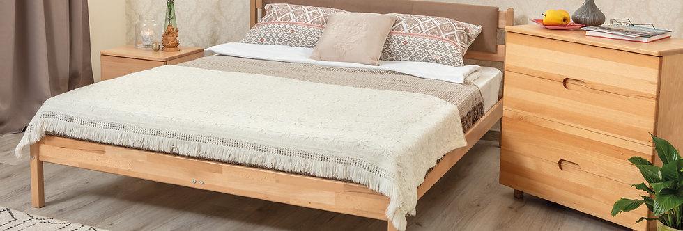 Кровать LIKA без изножья с мягкой спинкой - ОЛИМП