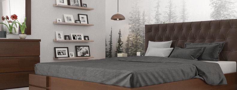 Кровать Камелия Ромб с механизмом Сосна - Арбор