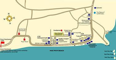 Vuokraa huvila thaimaasta sijainti kartalla.