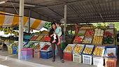 Vuokraa huvila thaimaasta - Paikallinen hedelmäkoju.