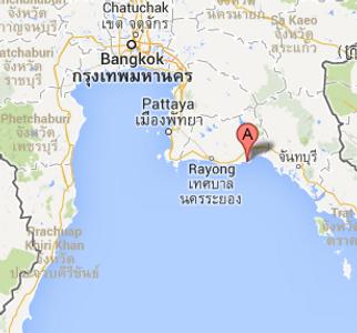 Vuokraa huvila Thaimaasta sijainti kartalla
