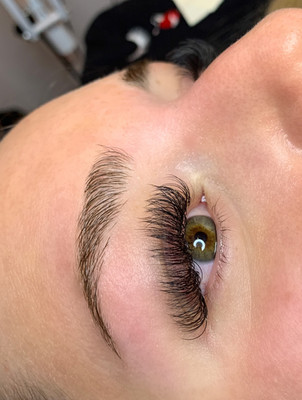 Hybrid Lash Extensions & Brow Wax