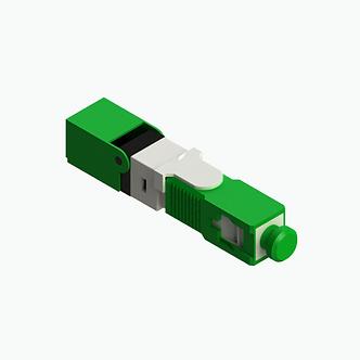 Conector mecánico tipo clip SC/APC