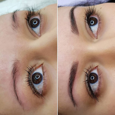 Healed Ombre Brows 💫_Before & after__#b