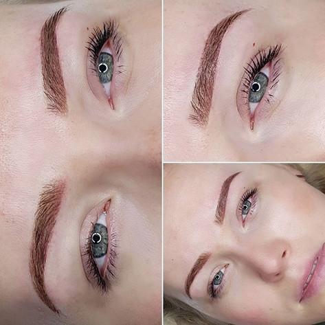 Jaarlijkse touch-up. Love dark brows for