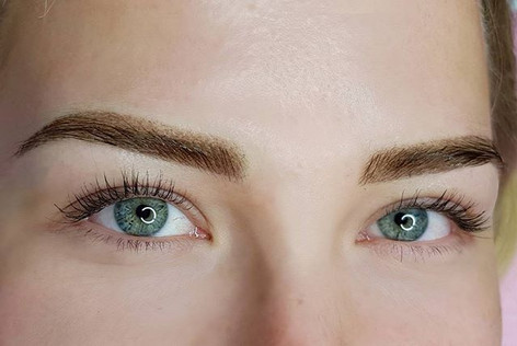 Ombre powder brows after first treatment