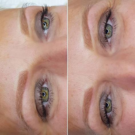 BLONDE powder brows ✅__Direct na de eers