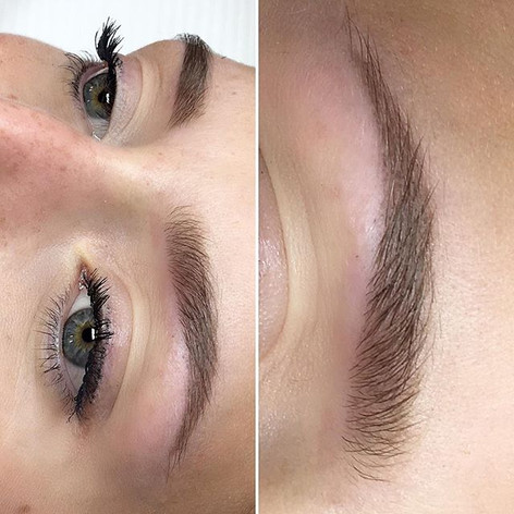 Healed Ombre brows after first session ✔