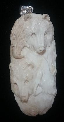 Eagle, Bears, Wolf Face